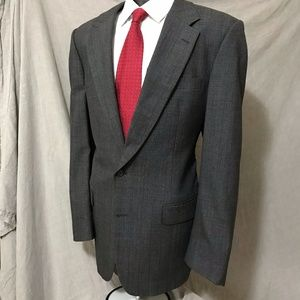 Burberry Vintage Gray Blazer 46R Minor discolor